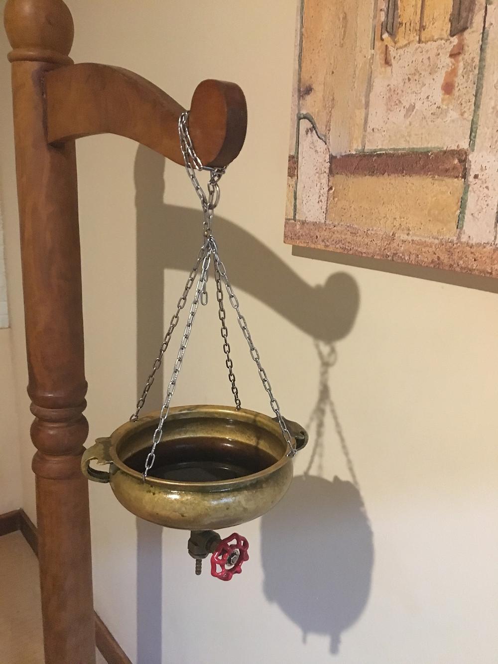 Shirodhara oil bowl.JPG