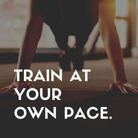 Train at your own pace