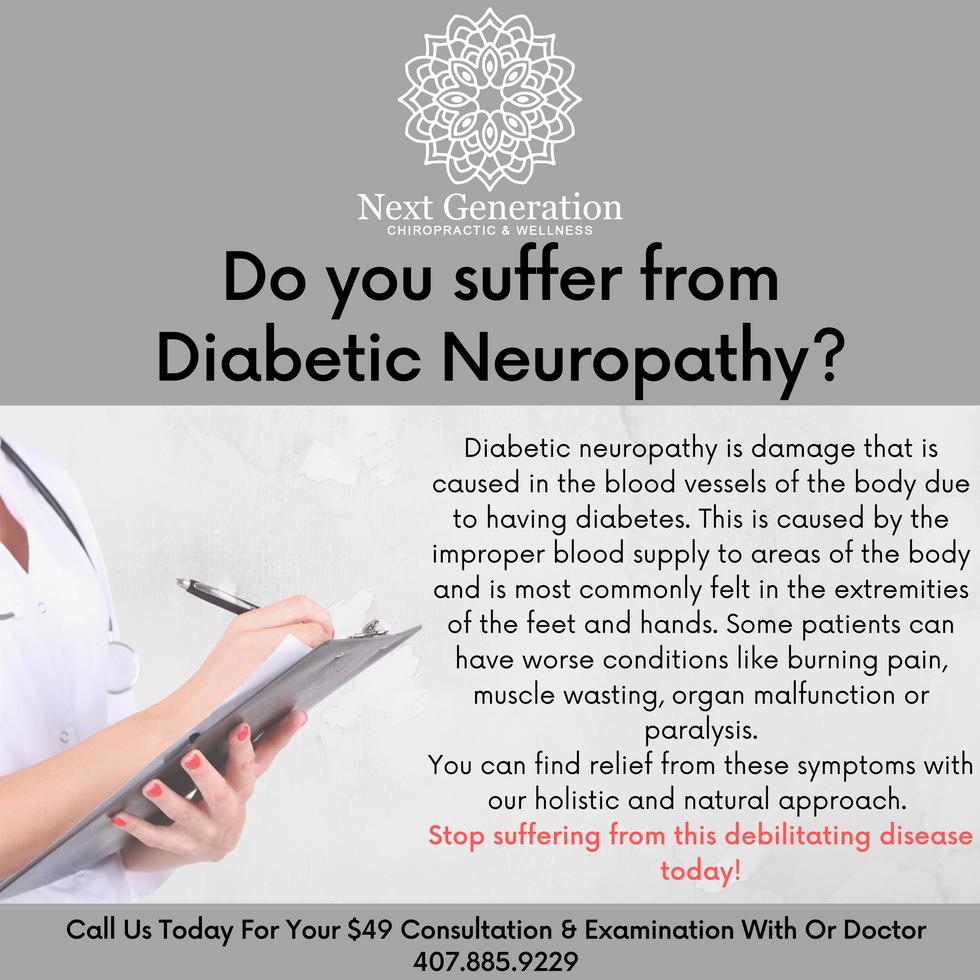 Do you suffer from Diabetic Neuropathy