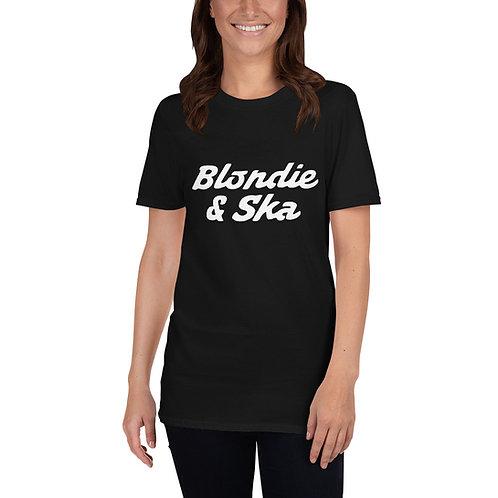 Blondie and Ska White Logo Short-Sleeve Unisex T-Shirt