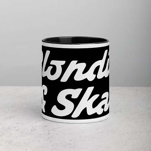 Blondie White Logo Mug with Colour Inside