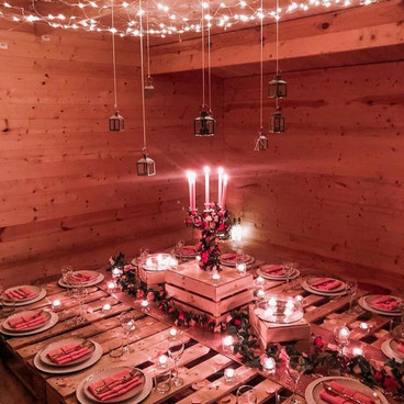 Private dining set up