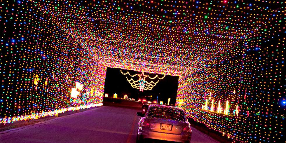 Holiday of lights show @ Jones Beach
