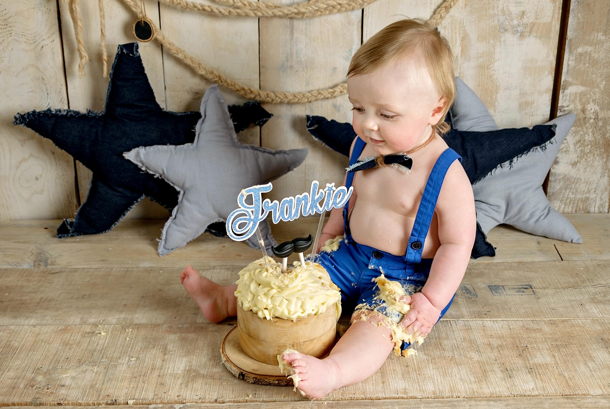 smash cake 1st Birthday boy