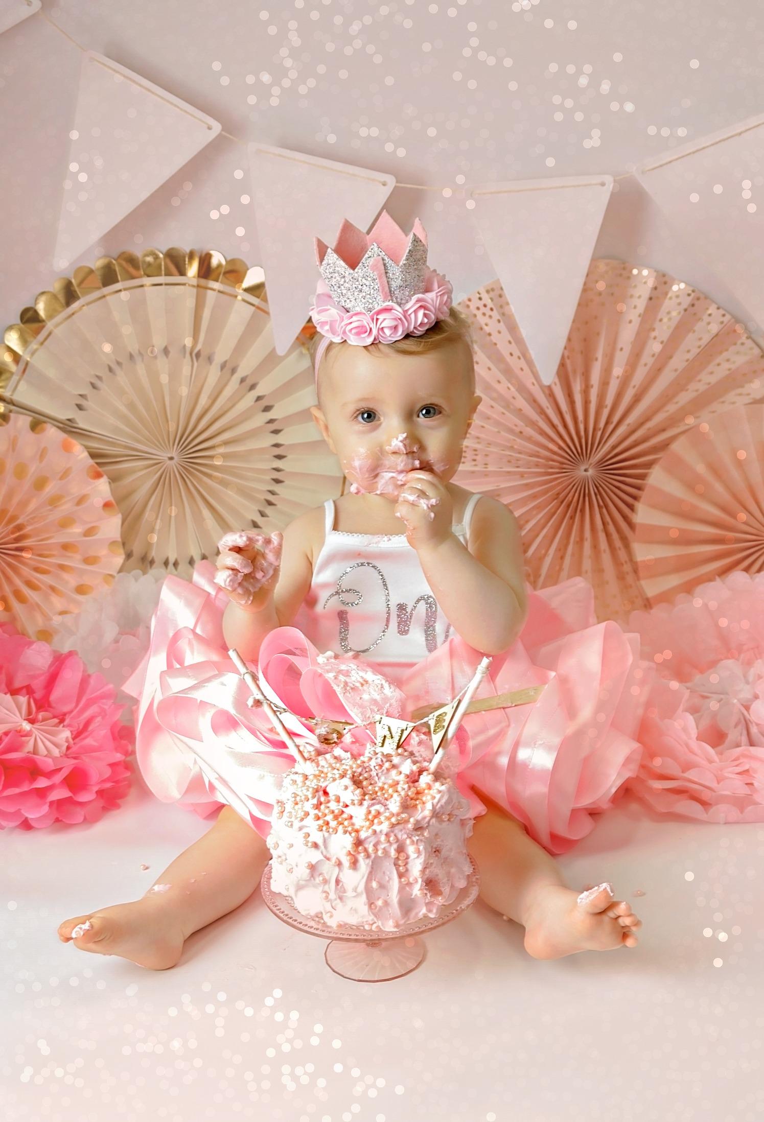 pink girl cake