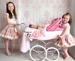 newborn sisters portrait