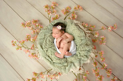 newborn picture baby as art