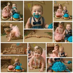 smash cake twins