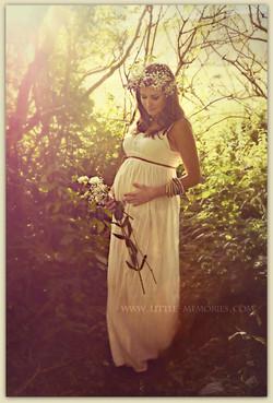 boho maternity session