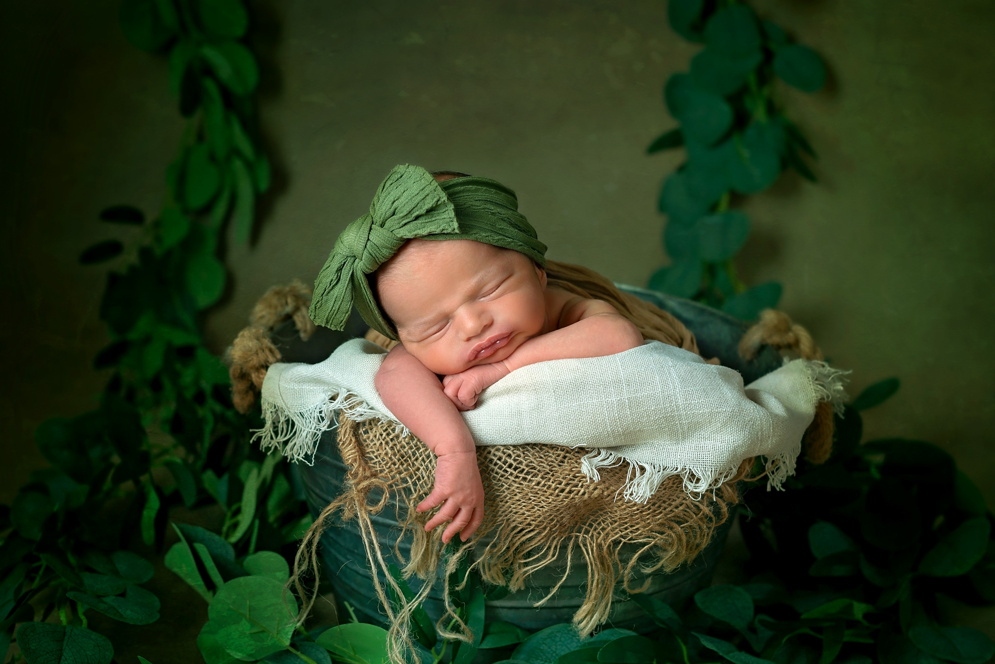 boho newborn session