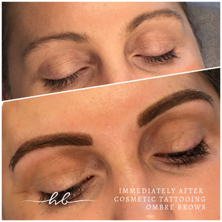 Ombre Brows - before & after