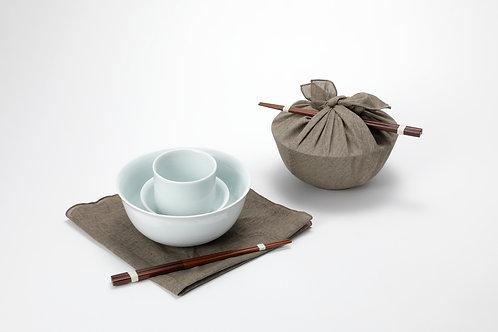 면기세트(면기+찬기+컵+젓가락+보자기 포장)