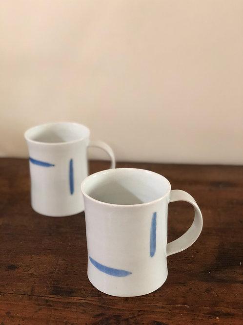 머그컵(무지, 청화선, 청화점)