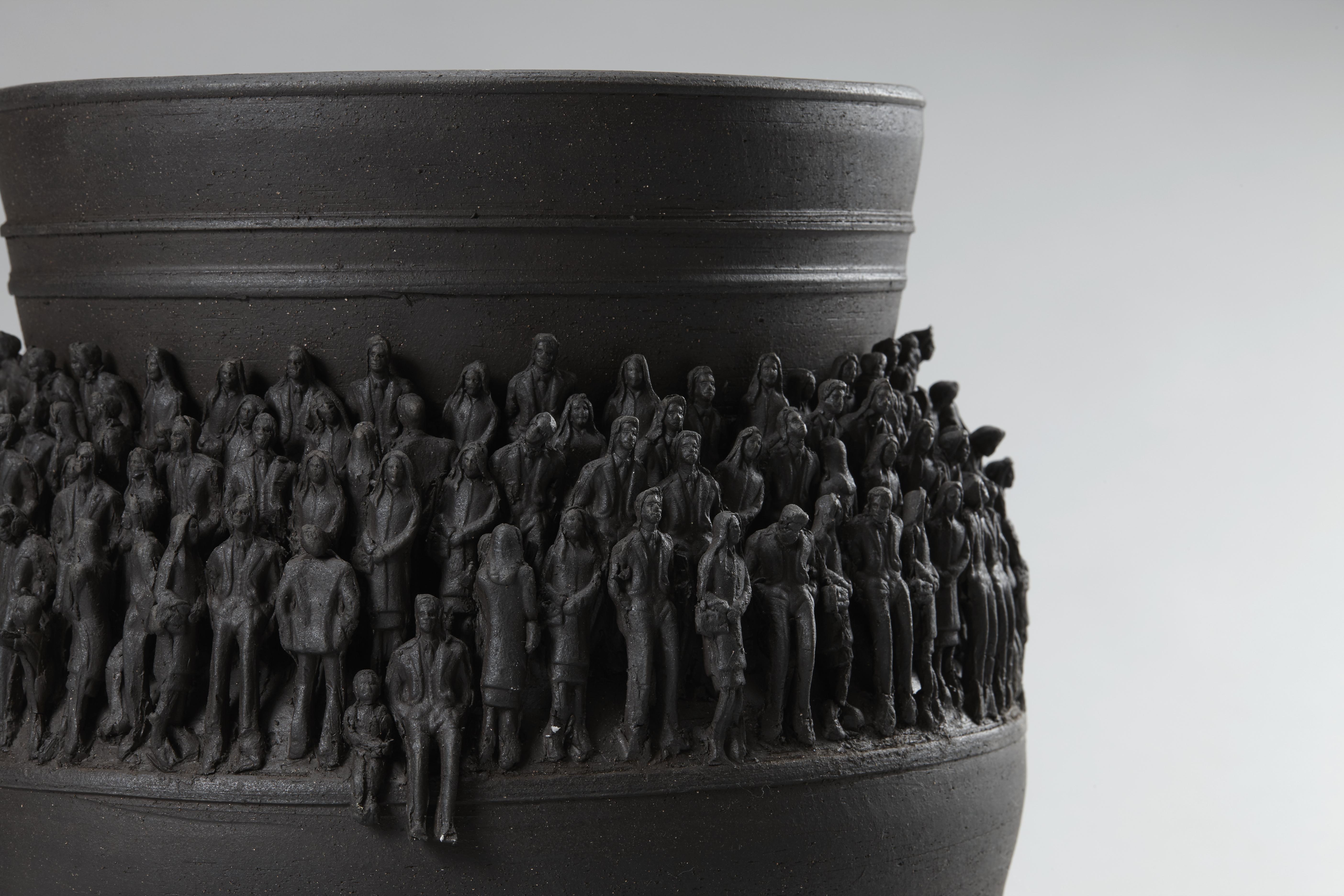 2017_도자비엔날레_21세기 토우 붙은 항아리-2_26x26x35 cm