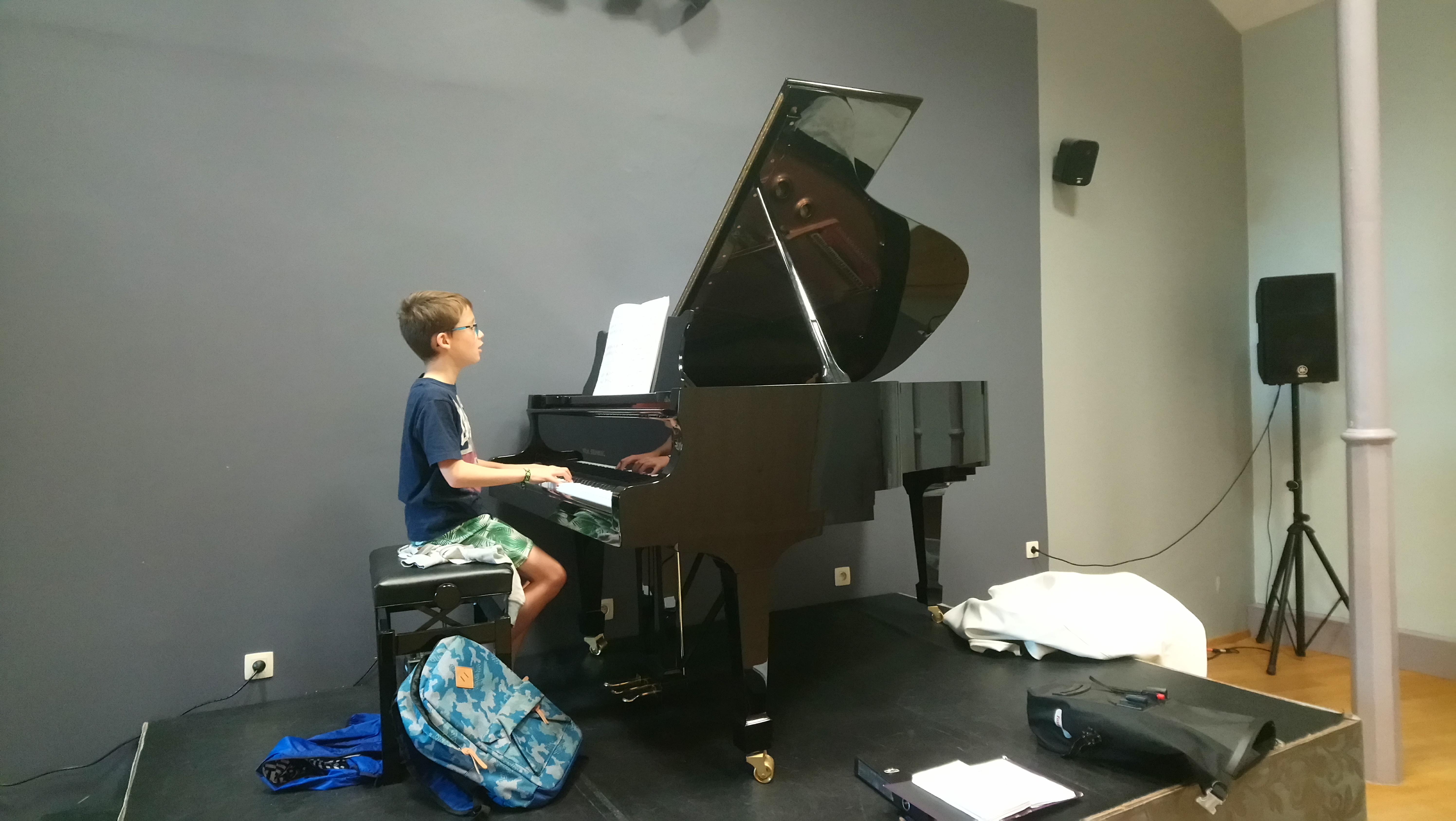 Clément en répétition