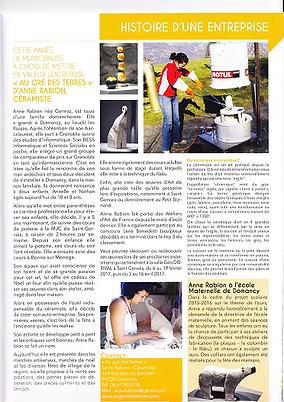 bulletin municipal Domacny (janvier 2017
