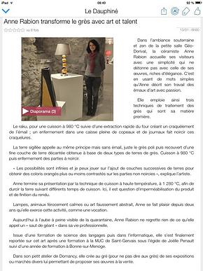 article dauphine St Gervais (janvier 201