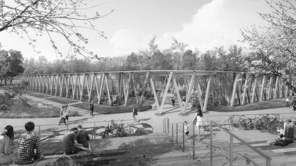 médiathèque et parc public