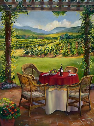 Table at Winery- Paris, France- Limited Edition