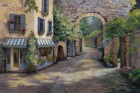 Cafe de Ville-Provence, France- Limited Edition