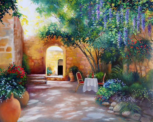 Sunlight Courtyard- Tuscany- Limited Edition