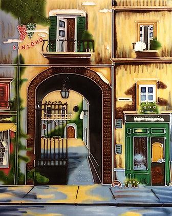 Cinzano- Sienna, Italy-Ceramic Tile