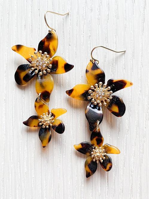 The Tortoise Flower Earrings