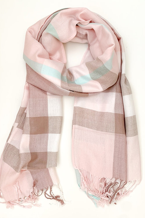 The Pretty Plaid Scarf, Pink
