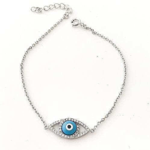 Eye on the Prize Sterling Silver Bracelet