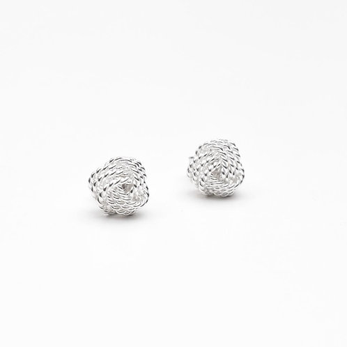 The Tiny Knot Earring, 925 Sterling Silver