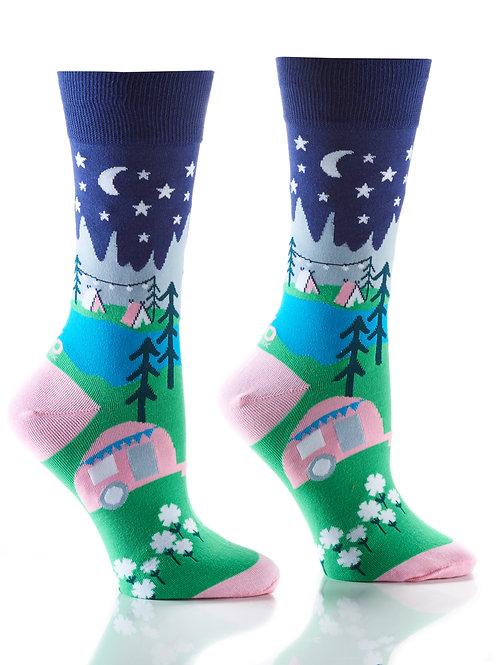 Women's Crew Socks, Glamping