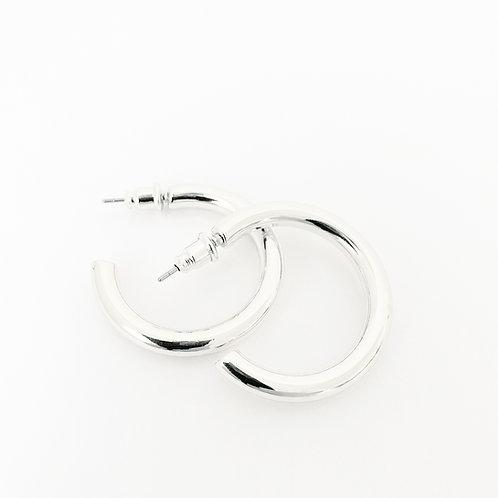 Basic Metal Hoops, Silver