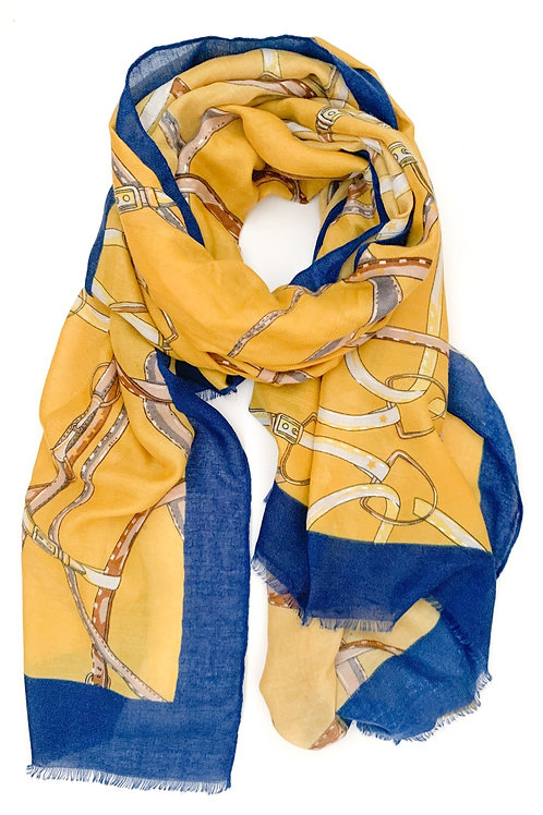 Ropes and Chains Scarf, Mustard
