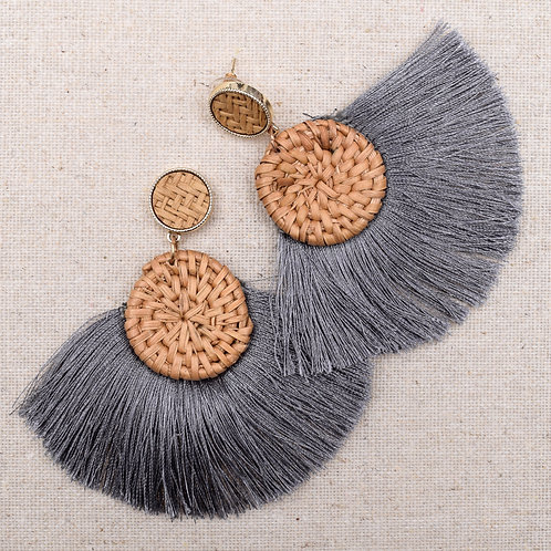 The Wicker Fringe Earring