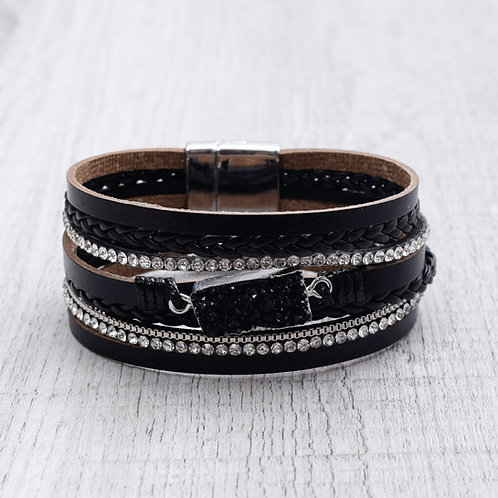 Rectangular Druzy Bracelet