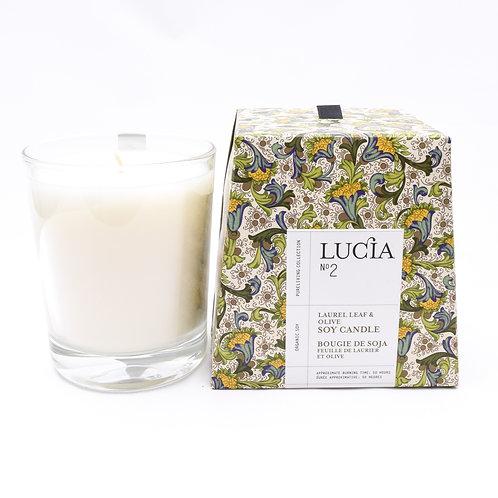 Lucia No. 2 Laurel Leaf & Olive Candle (Lrg)