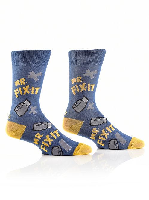 Men's Crew Sock, Mr. Fix It