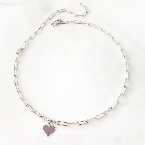 The Paper Clip Heart Necklace