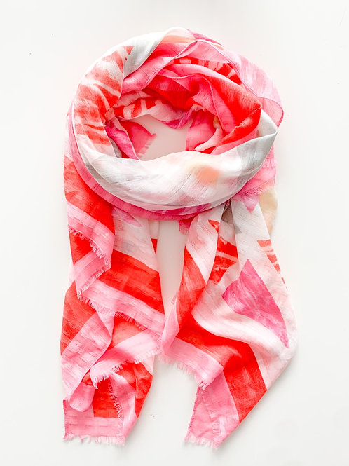 The Geometrical Prism Scarf, Pink