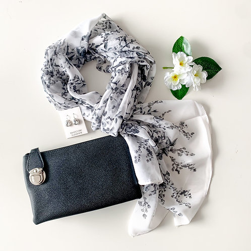 Scarf, Crossbody, & Swarovski Earring Set