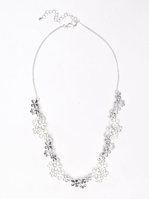 Silver Dust Floral Necklace