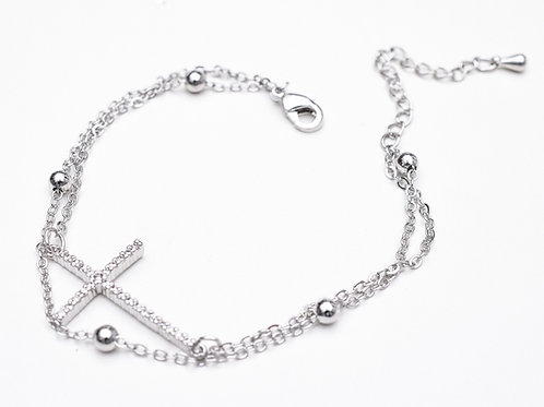 Double Cross & Ball Bracelet