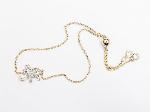 The Lucky Elephant Bracelet, Gold