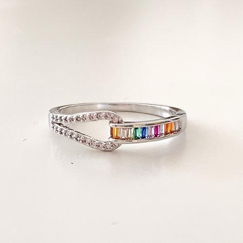 The Rainbow Belt Ring, Silver