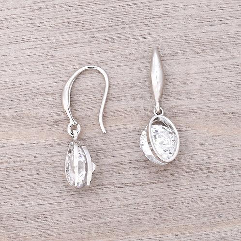 The Elegant Oval Drop Earring