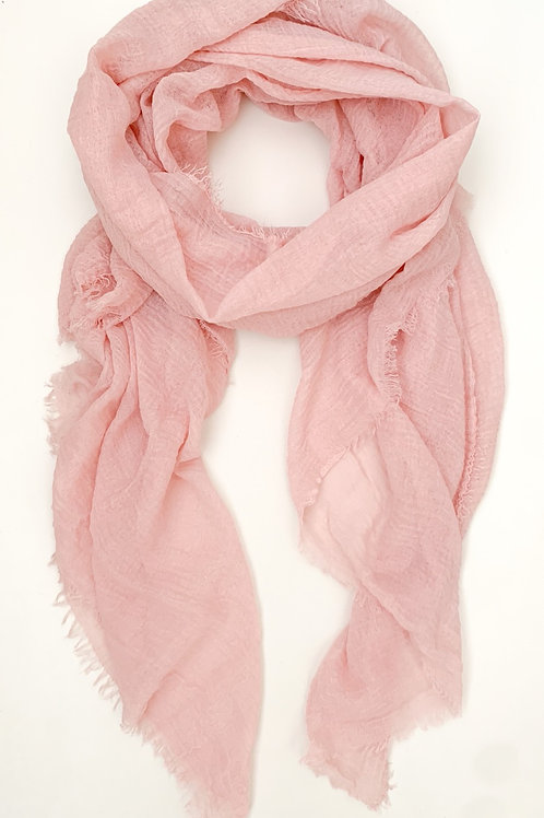 The Everyday Cotton Scarf, Blush