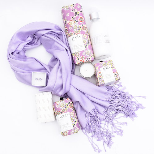 Lucia- Wild Ginger & Fig Self Care Kit with Scarf and Earrings