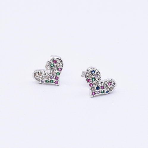 Speckled Mini Heart Studs