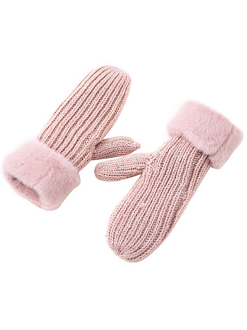 The Pink Sequin Mittens