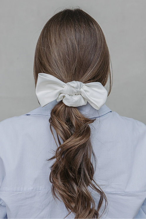 Large Satin Bow Scrunchie
